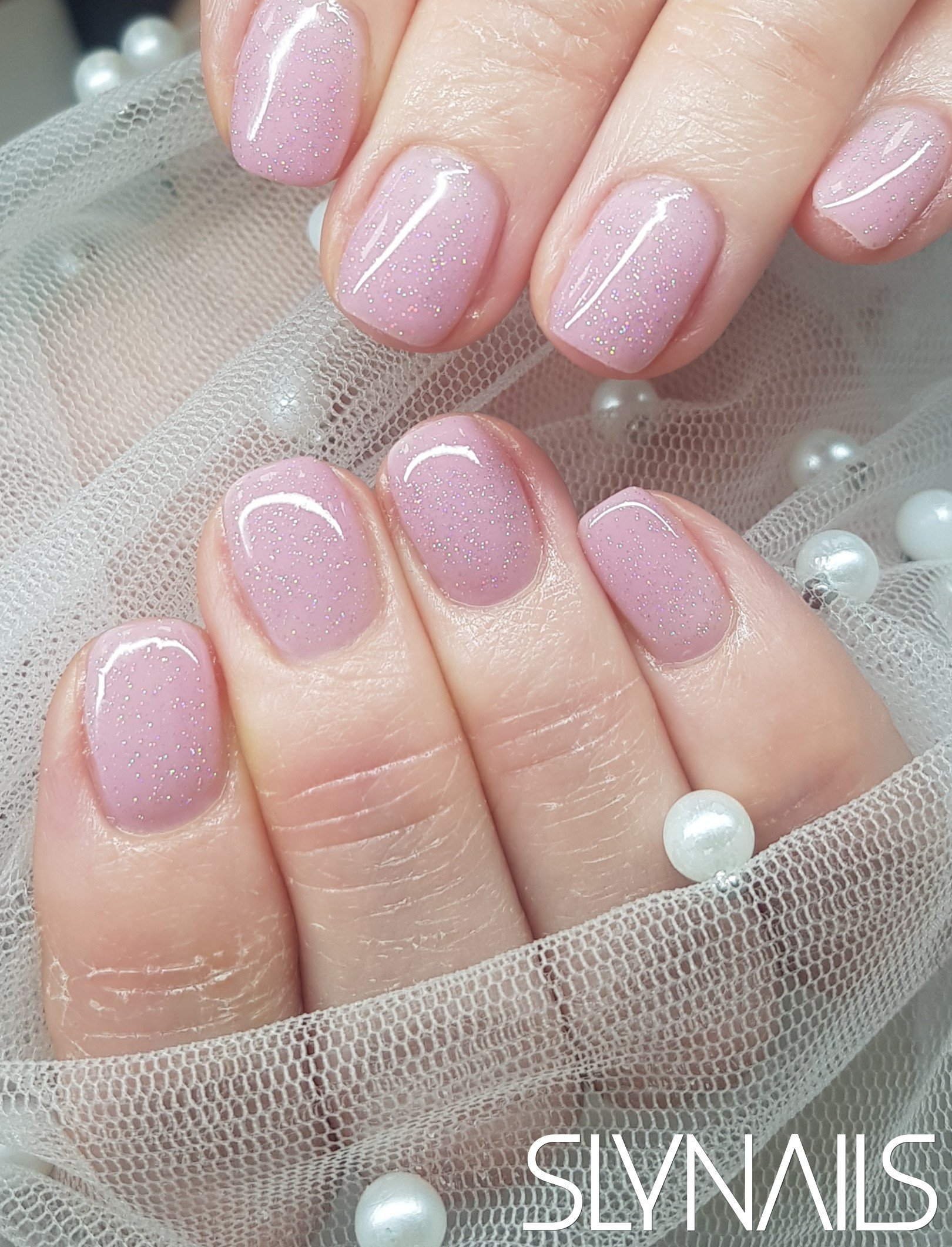 Gel-lac (gel polish), Nude, Square, One color, Without decoration