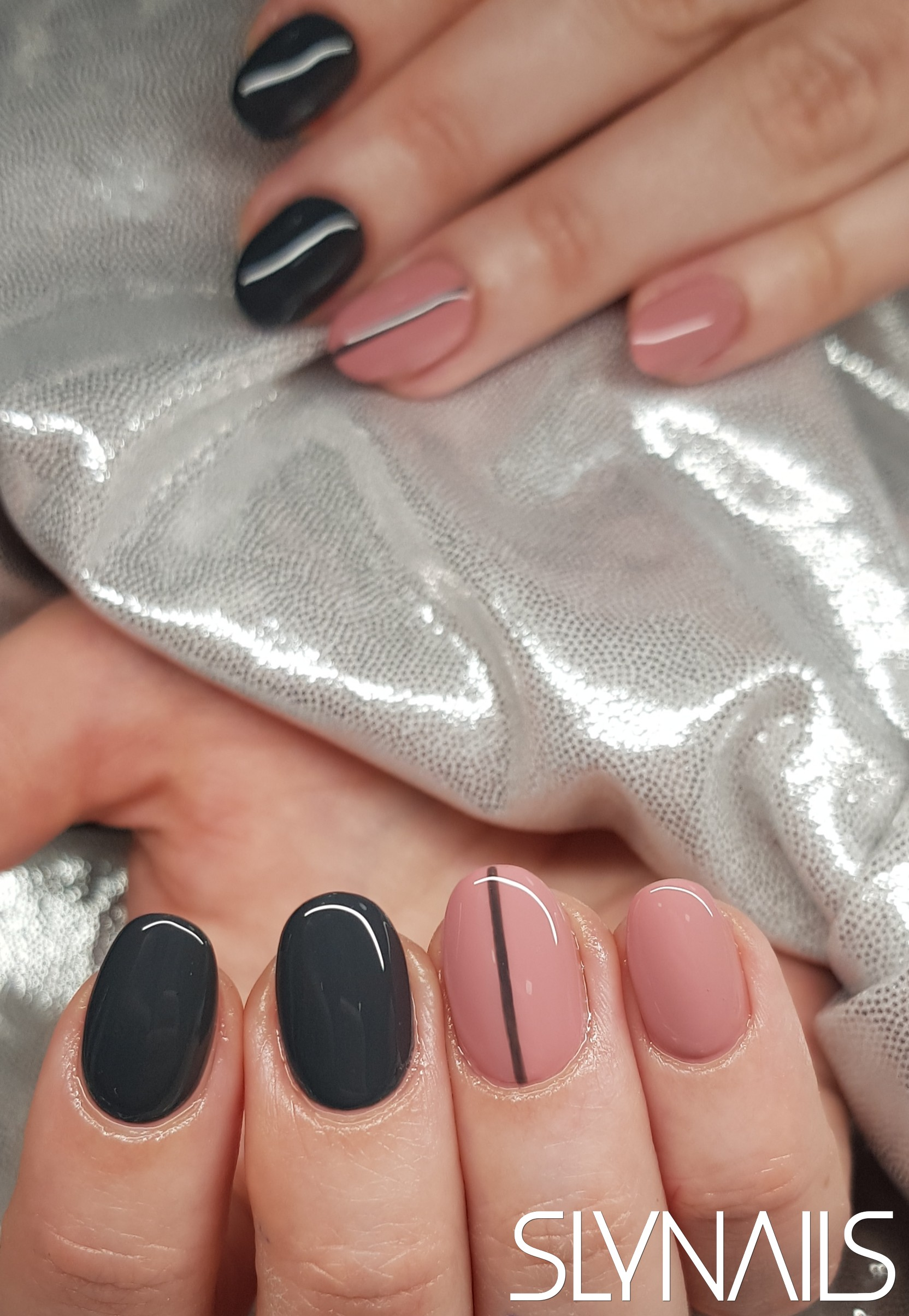 Gel-lac (gel polish), Grey, Nude, Art gel decorations, One color, Rounded